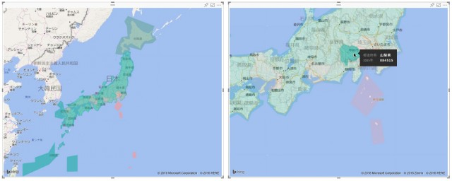 地図上でグラフを閲覧する