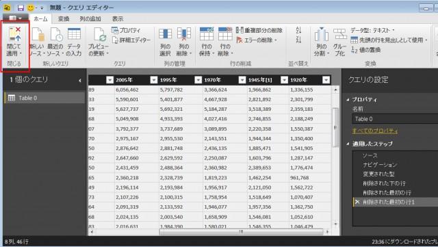 Power BI Desktopのクエリ編集