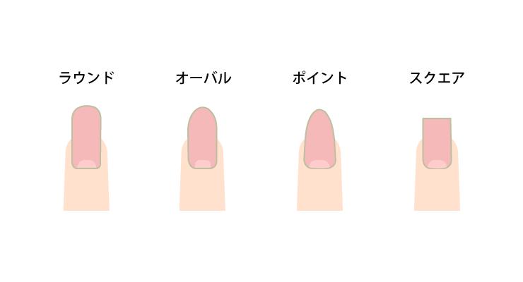 爪の形(ラウンド・オーバル・ポイント・スクエア)