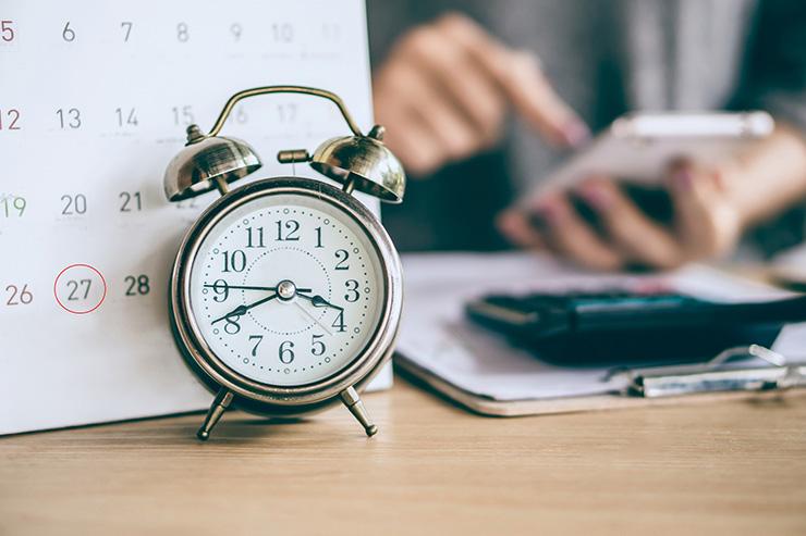 目標時間を設定して、集中&効率的に仕事を進めよう